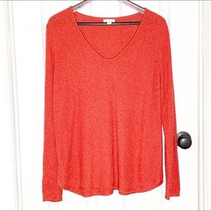 J. Jill Dark Coral Sweater Size Large Petite